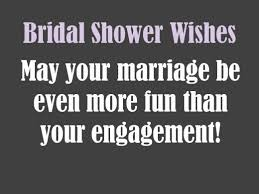 Bridal Shower Wish Bridal Shower Card Messages Holidappy