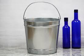 Tall Galvanized Planter by Metal Buckets Metal Pail Bucket Outlet