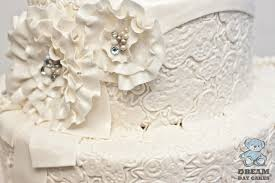 small lace wedding cake gainesville bearkery bakery