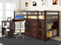 furniture graceful loft beds with desk to save kids room space