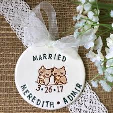 wedding engagement ornaments by say your