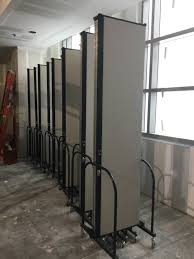 movable room dividers rolling construction safety panels screenflex portable room dividers
