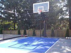 backyard basketball court flooring 28x34 backyard basketball court waiting for the kids to get home