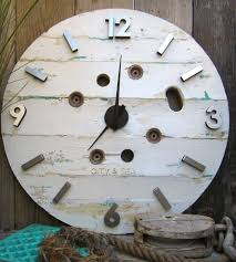 neat design reclaimed wood wall clock perfect decoration round