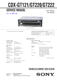 download free pdf for sony cdx gt220 car receiver manual