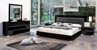 bedroom sets in black venice furniture modrest grace italian modern black bedroom set