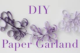 Decorative Garlands Home Diy Paper Scroll Garland Tutorial Decorations That Impress