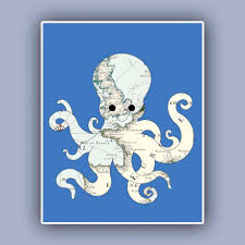 terrific wooden octopus wall decor large octopus decal wall