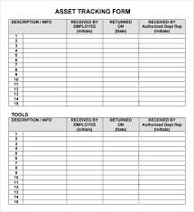 personal asset inventory management tracking template form vlashed