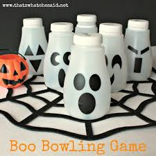 Halloween Decorations Using Milk Jugs - boo bowling upcycled u003d use milk jugs from mcdonalds and turn it