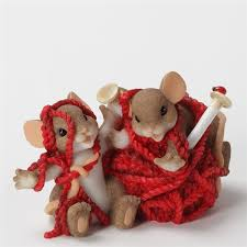 mice tangled in yarn charming tails figurine 4033008