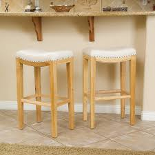 Furniture Bar Stool Chairs Backless by Amazon Com Jaeden Beige Backless Bar Stools Set Of 2 Kitchen