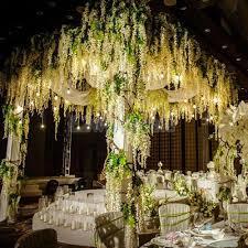 12x artificial silk wisteria fake garden hanging flower vine