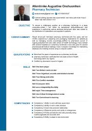 Cv For Pharmacy Technician Able To Work Under Pressure Resume Resume For Your Job Application