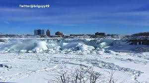 frozen niagara falls deep freeze creates winter beauty