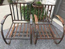 metal patio chairs ebay