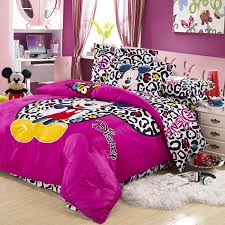 Minnie Mouse Single Duvet Set Leopard Mickey Mouse Full Queen Size Duvet Cover Bedding Sets Boys