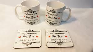wedding gift mugs and groom coffee set wedding gift set and groom