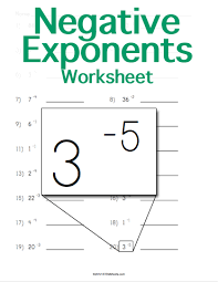 Of Exponents Worksheet Negative Exponents Worksheet Maker Customizable