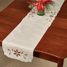 lenox perle poinsettia table linens