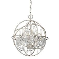 chandelier pictures shop kichler vivian 19 02 in 6 light brushed nickel clear glass