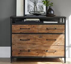 Reclaimed Wood File Cabinet Juno Reclaimed Wood Dresser Pottery Barn