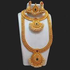 double necklace set images Shop sai raj pota stone double necklace set with maang tikka jpg