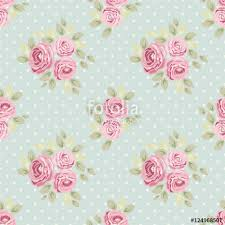 Shabby Chic Kitchen Wallpaper by Set Of Cute Seamless Shabby Chic Patterns With Roses Polka Dot