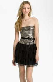 aidan mattox bloused sequin cold shoulder dress available at