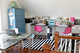 Pink Craft Room - the craft room and home office are done finding home farms