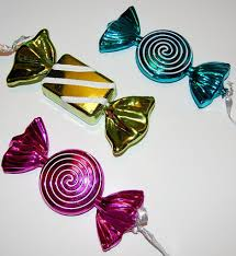 candy ornaments set of 3 aluminum christmas candy ornaments from