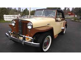1949 willys jeepster 1949 willys overland jeepster for sale classiccars com cc 989290
