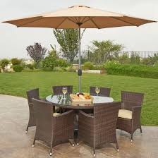 Outdoor Patio Dining Sets With Umbrella Home Design Patio Wicker Dining Set Black Wicker Patio Dining