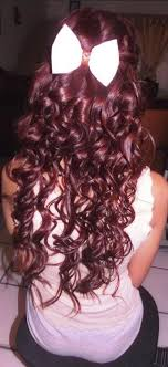 coke in curly hair cherry coke red hair with a white bow hair pinterest red