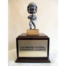 Fantasy Football Armchair Quarterback Trophy Football Perpetual Trophies