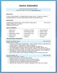 Medical Assistant Resume Skills Resume Examples Templates Professional Format 2016 Example Medical