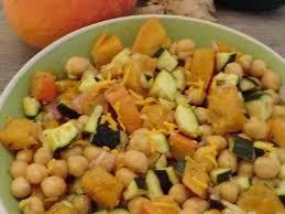cuisiner curcuma frais recettes de salade de pois chiche et courgettes