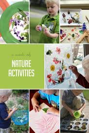 A week of nature activities to do hands on as we grow