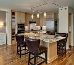 Designer Kitchen Bar Stools Kitchen Small Hanging Lamp Above Marble Countertops Closed Elegant