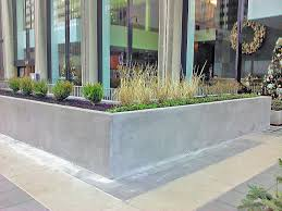 Concrete Planters Concrete Planter Box Designs Homesfeed Plus Outdoor Planters 2017
