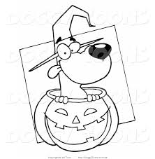halloween dog clipart black and white clipartxtras