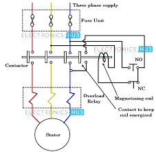 wiring diagram electric motor starter circuit diagram block