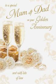 50th wedding anniversary golden 50th wedding anniversary card
