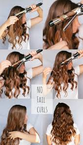 no fail curls spray lightly with hairspray twist around
