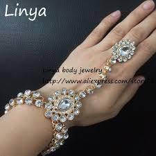 handmade chain bracelet images Sl 226 full crystal handmade stones hand chain hand jewellery jpg