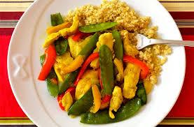 cuisiner des pois gourmands poulet aux pois gourmands et poivrons ma cuisine santé