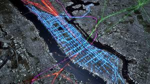 commute map beautiful cgi map of nyc commute is beautiful