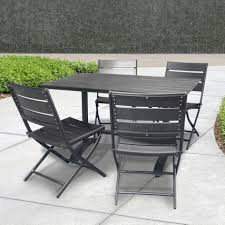 Travertine Patio Table Furniture Black Folding Patio Table And Chairs With 4 Person