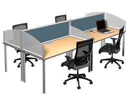 arced wings in frosted acrylic and terrace panel desk dividers add privacy to your desk or