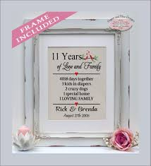 11th anniversary gift ideas 11th anniversary gift 11 years 11 year anniversary gift for